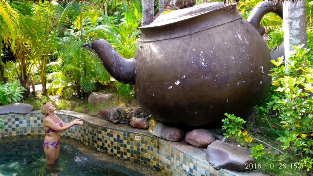 Источники Саньи ванна с зелёным чаем